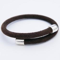 Bracelet daim marron