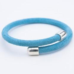 Bracelet daim bleu ciel