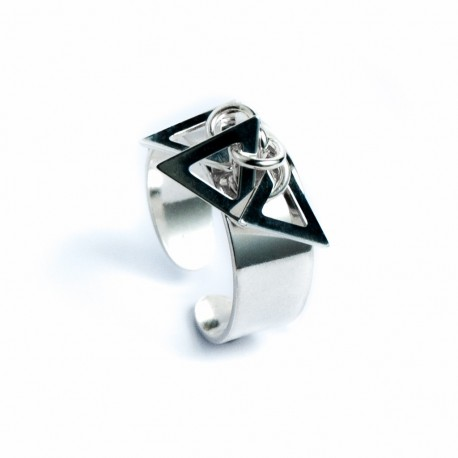 Bague pampille 3 triangles