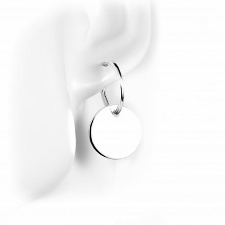 Boucles d'oreille créoles médaille 1,5cm
