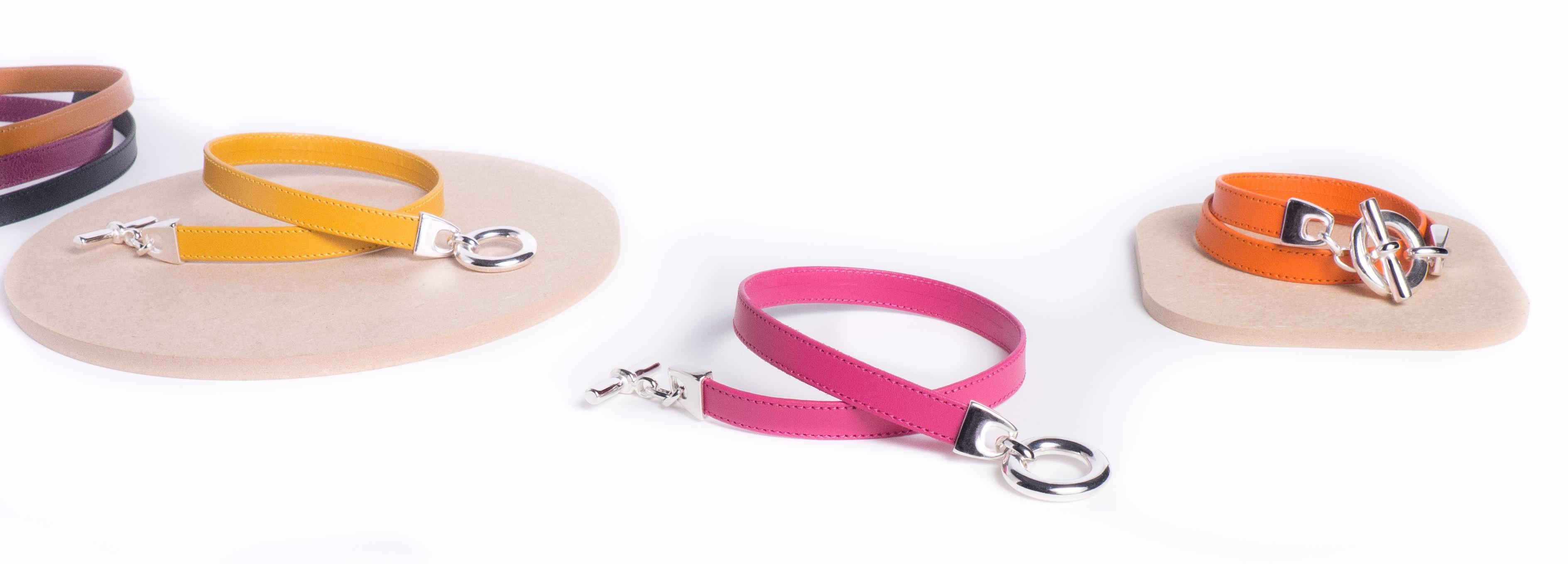 Nouveaux bracelets cuir couturés